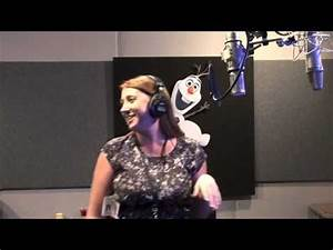 Recording the Voice of Olaf in Disney Frozen - YouTube