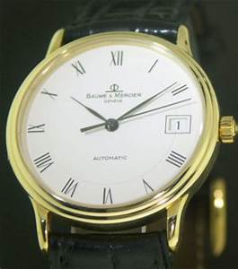 Mercier Auto : baume mercier 18kt gold auto 211 10961 pre owned mens watches ~ Gottalentnigeria.com Avis de Voitures