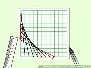 Draw A Parabolic Curve  A Curve With Straight Lines