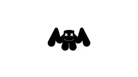 Marshmello Logo White Hd Music 4k Wallpapers Images