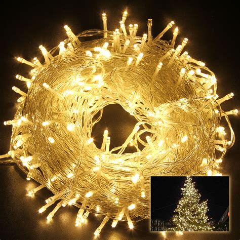 excelvan 164feet warm white string fairy lights lighting