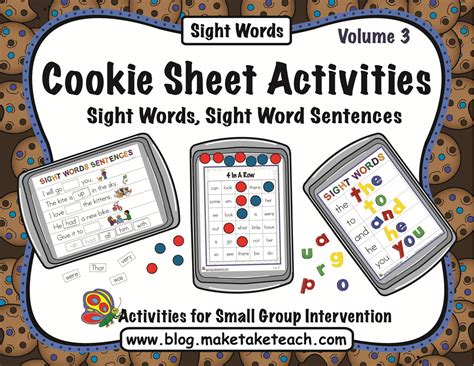 cookie sheet challenge volume 3 sight words make take 383 | CSAV3blogpic