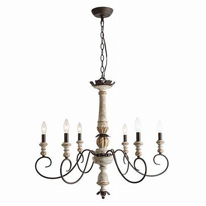 Chandelier Chandeliers Wood Country French Ceiling Antique