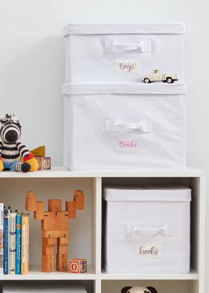 canvas storage boxes large white  laundress