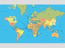 World map showing Korea Map of Korea in world Eastern
