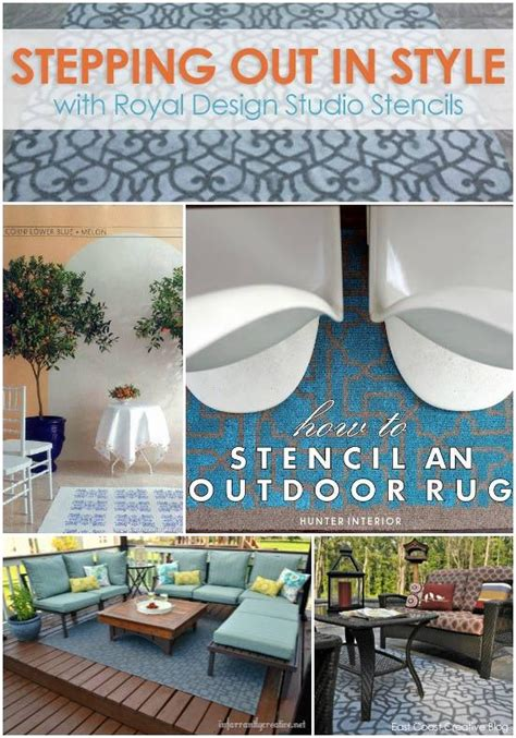 stencil paint  pattern ideas  stylish outdoor rugs