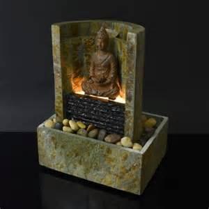 designer zimmerbrunnen zimmerbrunnen seliger buddha feng shui schieferbrunnen ning mit beleuchtung neu ebay