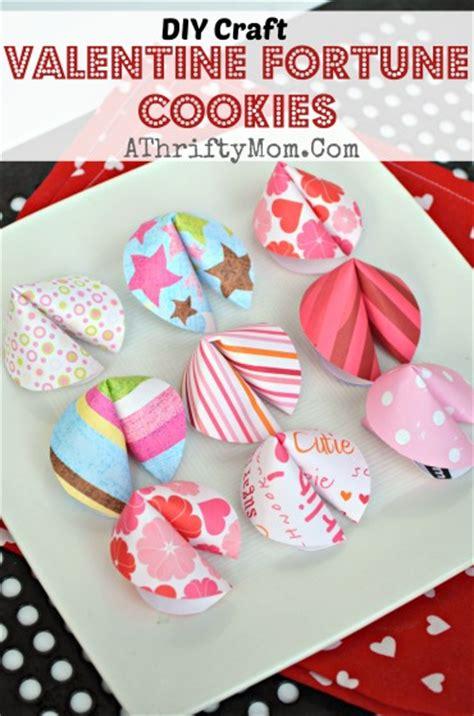 valentines fortune cookies diy craft  thrifty mom