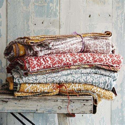 'Chirali' bedspread by Toast   ELLE Decoration UK