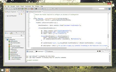 web development ide aptana studio css javascript code ourcodeworld