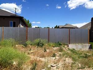 Corrugated, Metal, Fence, Update