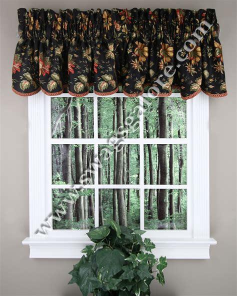 Black Waverly Curtains Valances