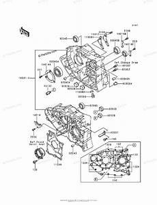 Kawasaki Atv 1988 Oem Parts Diagram For Crankcase
