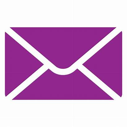 Purple Icon Mail Letter Camp