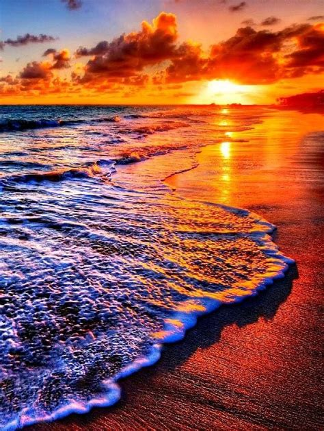 Breathtaking Sunset Beautiful Beach Sunrise