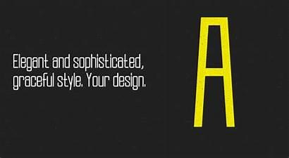 Font Slender Clean Elegant Freefont Typeface