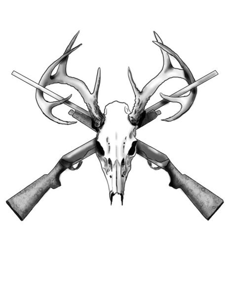 deerskulltattoopics deer skull tattoo