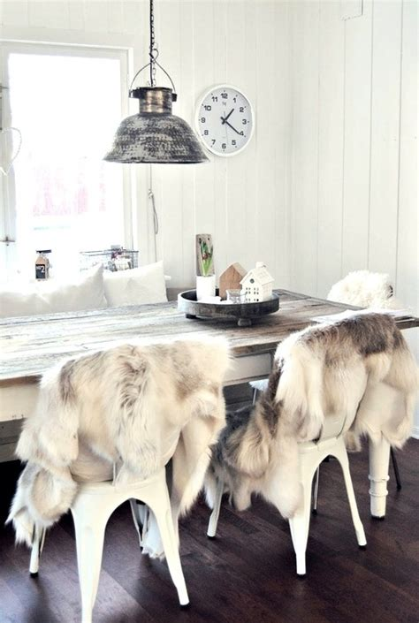 faux fur thrown chairs yes kitchen