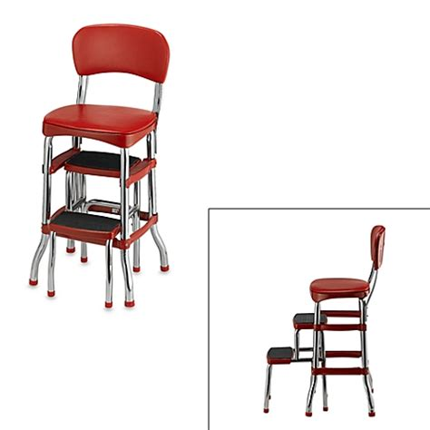 cosco 174 retro chair step stool in red bed bath beyond