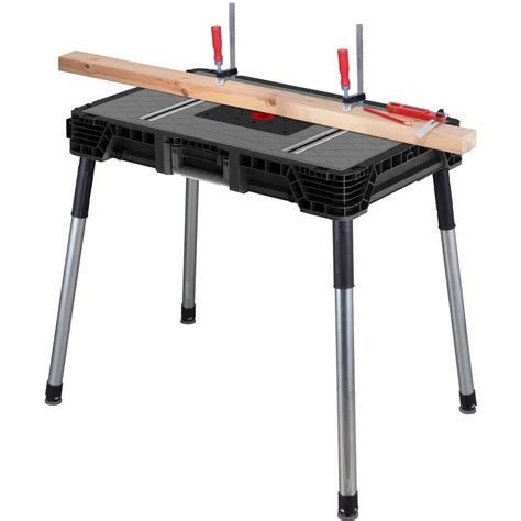 portable jobsite workbench work table miter  stand