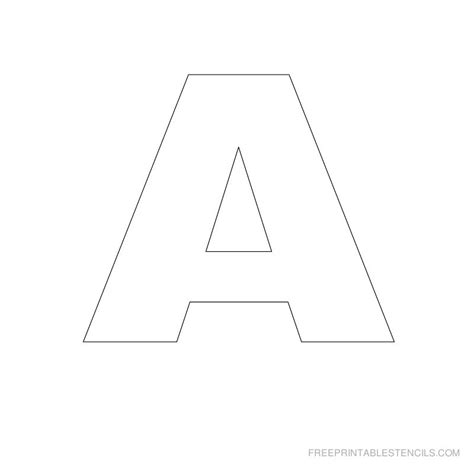 printable stencil letters big letter printable stencils a to z free printable stencils 64471