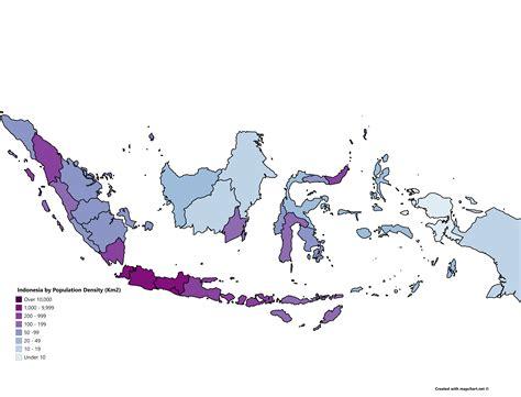 indonesia  population density oc mapporn