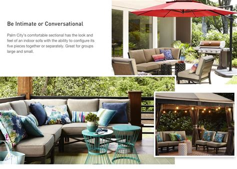 shop the palm city patio collection on lowes