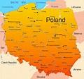 Cities map of Poland - OrangeSmile.com