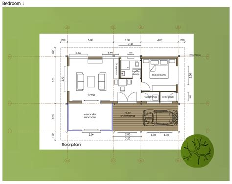 One bedroom,Small House Floor Plan in New Zealand