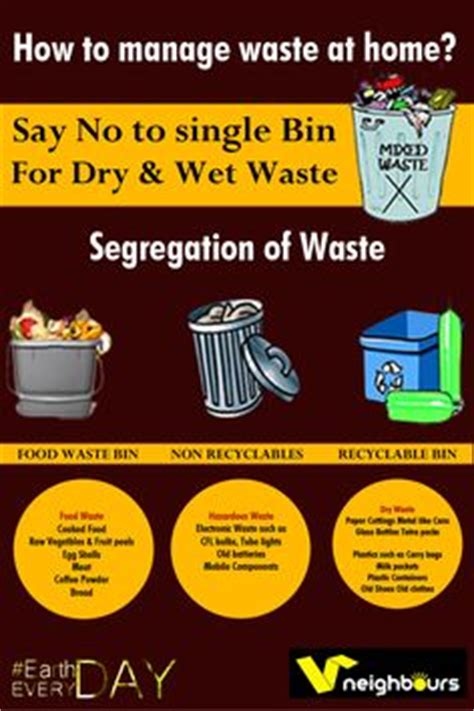 waste segregation pamphlet officesrestaurantsmalls