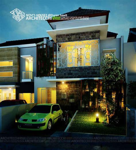 desain rumah tropis  lantai novi arsitek desainrumah