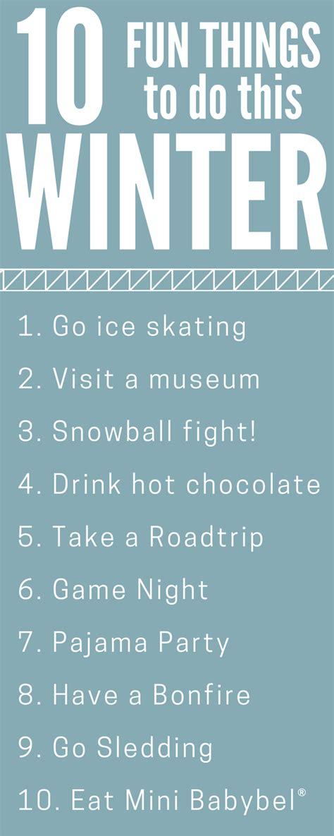 Fun Winter Activities  My Life And Kids