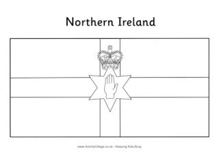 ireland flag colouring page