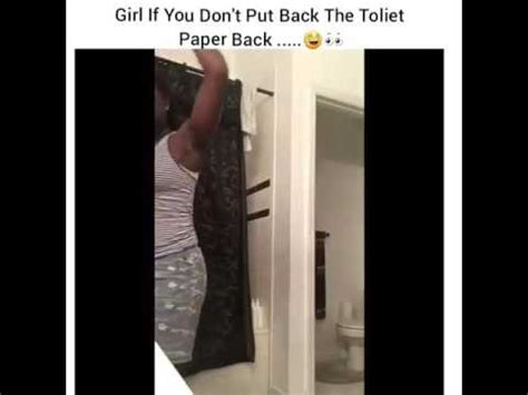 suicide toilet paper she tried to hang her self with toilet paper youtube