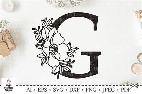 botanical alphabet svg floral letter  svg bundle svg dxf floral letters lettering doodle