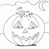Coloring Pages Pumpkin Benefits Drawing Halloween Printable sketch template