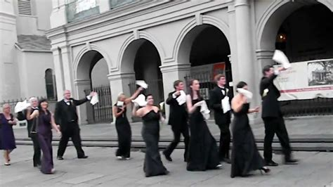 New Orleans Second Line Wedding Parade Youtube