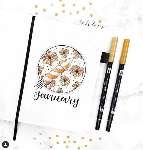 January Bullet Journal Fireworks Theme - The Smart Wander