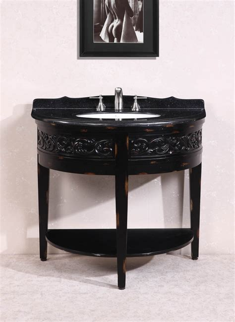 41 Inch Single Sink Bathroom Vanity With Black Granite