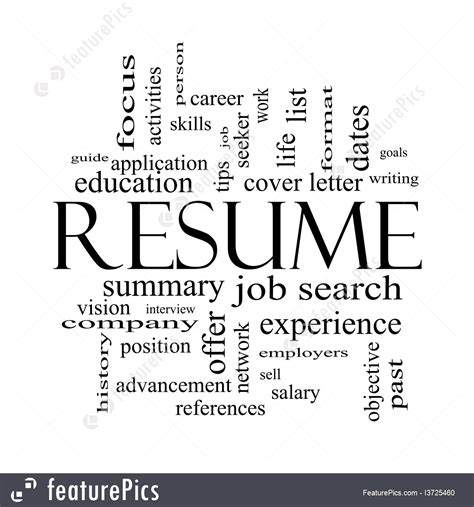 signs and info resume word cloud stock illustration