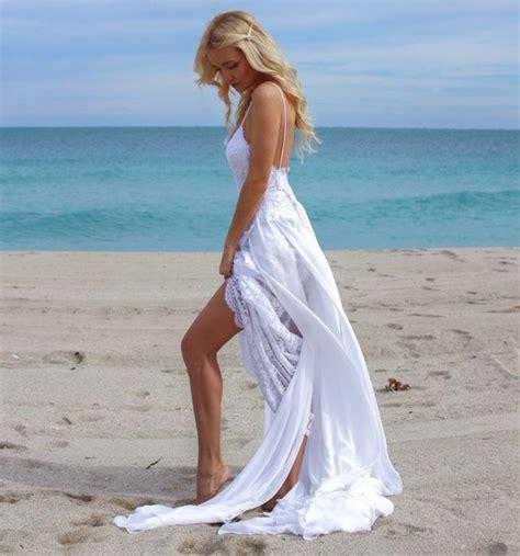 2018 sexy beach wedding dress high low beach wedding