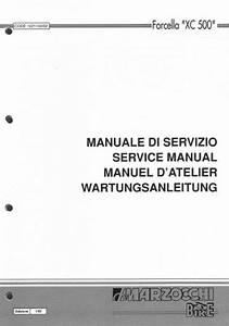 Xc500 Marzocchi Servicemanual Deckblatt