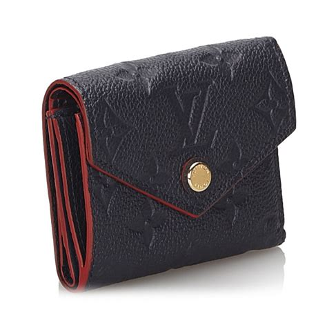 louis vuitton vintage monogram empreinte zoe wallet black leather  calf wallet luxury