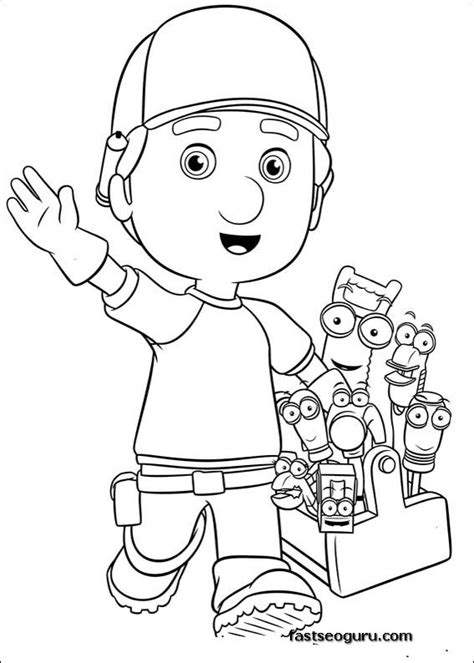 printable handy manny  tools coloring pages printable coloring pages  kids