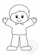 Happy Coloring Boy Printable Child sketch template
