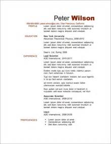 Free Resume Templates Resume Templates Letters Maps