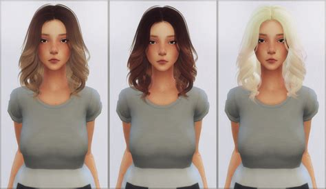 sims  hairs ellie simple antoss mollie hair retextured