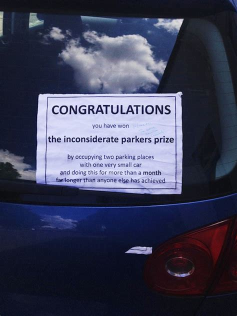creative windshield notes  drivers  parked horribly