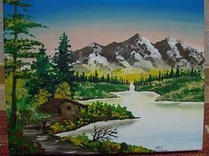 Bilder Bäume Gemalt : in den bergen berge see sonnenaufgang haus am see von martina bedregal calder n bei kunstnet ~ Orissabook.com Haus und Dekorationen
