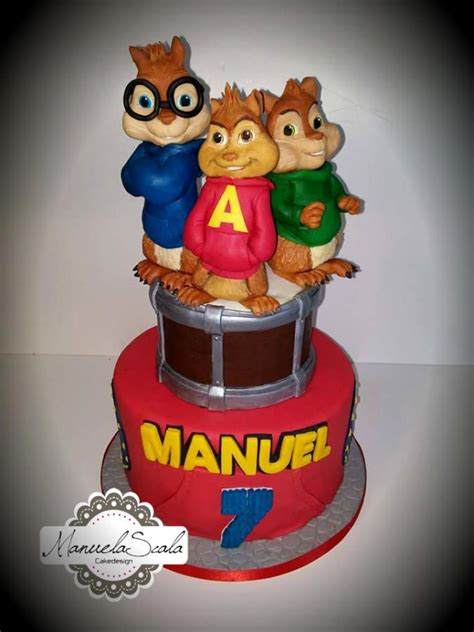 alvin and the chipmunks cake decorations alvin and the chipmunks by manuela scala cakes cake